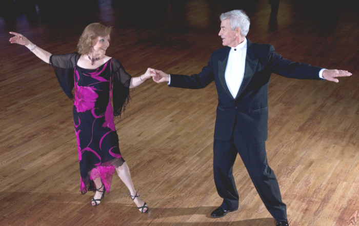 Para tańczących seniorów
