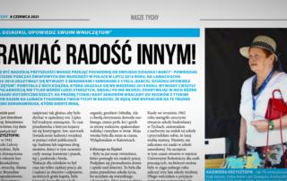 Fragment artykułu z tygodnika Twoje Tychy ze zdjęciem seniorki Kazimiery Krzysztofik