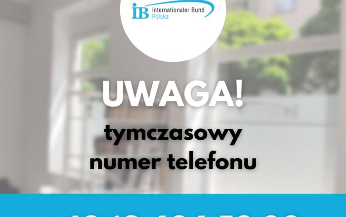 Tymczasowy numer telefonu (biuro w Krakowie) +48 686 53 80