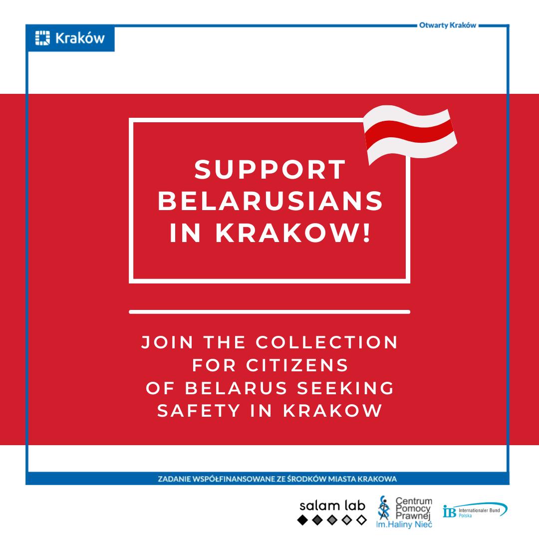 Zbiórka dla Białorusinów i Białorusinek w Krakowie